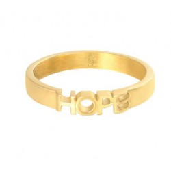Quote ring Hope goud