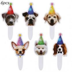 6 stuks cupcake of taart toppers Dogs