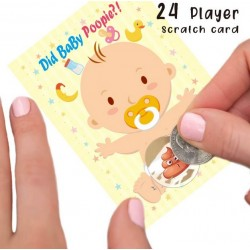 Babyshower scratch game Did Baby Poopie