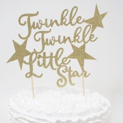 Taart topper Twinkle Twinkle Little Star
