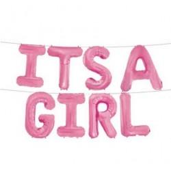 It's a Girl folie ballonnen set roze voor een genderreveal