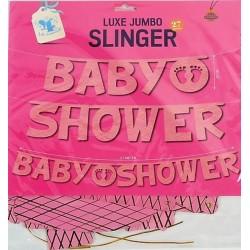 Baby Shower XXL slinger roze
