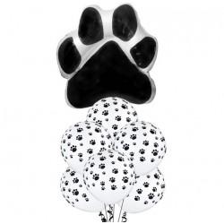 7-delige set Honden ballonnen Paws