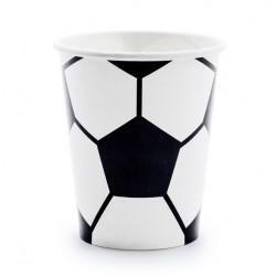 Bekertjes voetbal zwart met wit