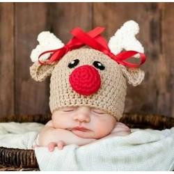 Gehaakte kerst muts voor de baby