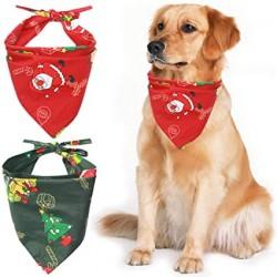 Kerst bandana voor de hond rood of groen