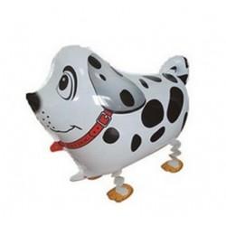 Ballon in de vorm van een zwart witte hond