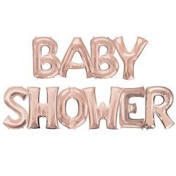 Ballonnen set Babyshower rosé goud