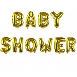 Ballonnen set Babyshower goud folie