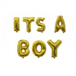 Ballonnen set It's a Boy goud folie