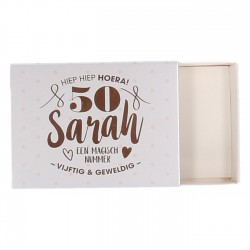 Cadeaudoosje Sarah 50 jaar