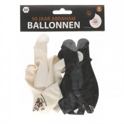 Ballonnen Abraham 50 jaar groot 8 stuks
