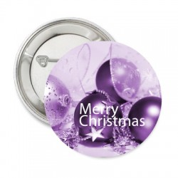 Button Merry Christmas purple
