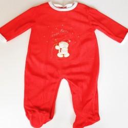 Comfortabel baby kerstpakje Jingle Bells rood