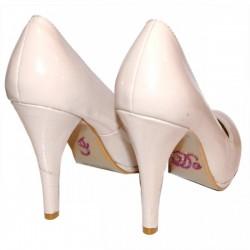 'I do' schoen sticker met strassteentjes paars