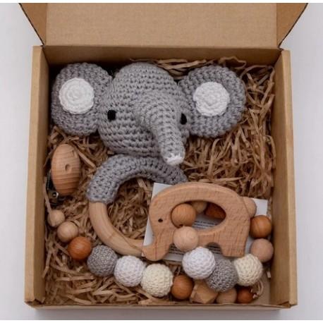 3-delige cadeau set Baby Olifant