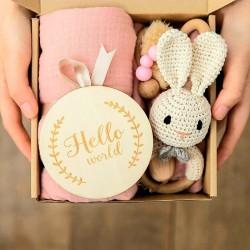 5-delige cadeau set Baby Konijntje roze