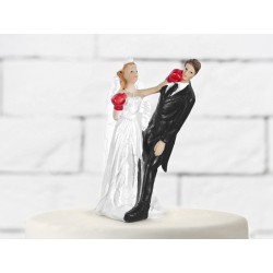 Boxing Bride taart topping