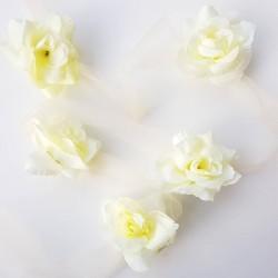 Bloemenslinger de luxe met tule en rozen