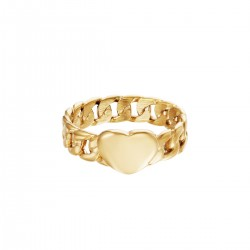 Ring Chained Heart goud of zilver
