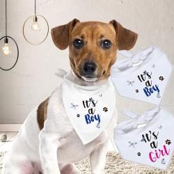 Gender reveal honden bandana It's a Boy of It's a Girl
