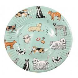 Bordjes met honden opdruk multi coloured