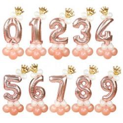 Ballonset Crown rose goud 13 delig