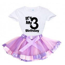 2-delige luxe verjaardag set Happy Birthday Pink Purple and Black and White