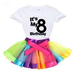 2-delige luxe verjaardag set Happy Birthday Rainbow and Black and White