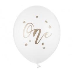 Ballonnen wit met goud One opdruk