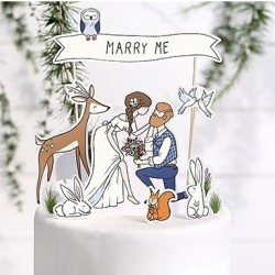 Bruidstaart topping Marry Me 10-delig