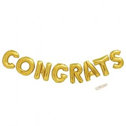 Folie ballonnen set Congrats goud of zilver of rose goud