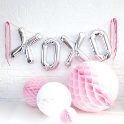 Folie ballon set XOXO zilver