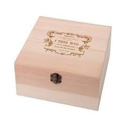 Houten ringbox True Love I Dee Wed