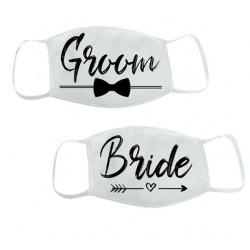 Mondkapjes set Bride and Groom Tribal