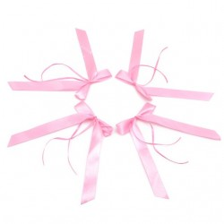 Aantrekkelijk geprijsde multifunktionele roze strik gemaakt van zacht lint