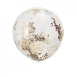 Confetti gevulde ronde reuze Orb ballon goud