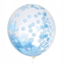 Giant confetti ballon 60 of 100 cm blauw