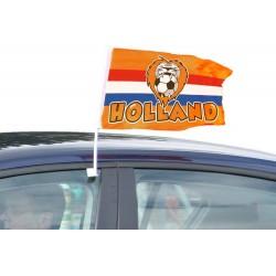 Autovlag Rood Wit Blauw Oranje leeuw