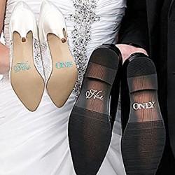 'His One' en 'Her Only' handige en extra voordelige schoensticker set