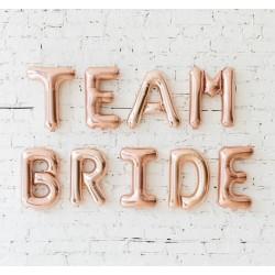9 delige folie ballonnen set Team Bride rose goud
