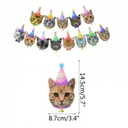 Banner Birthday Cats