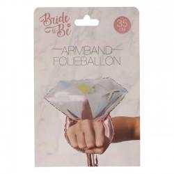 Armband folie ballon trouwring