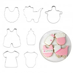 Baby koekjes vormen set 7 delig