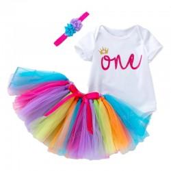 1e Verjaardag set Birthday Princess Pretty Colours