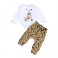 2-delige Wild One 1e verjaardags set voor jongens