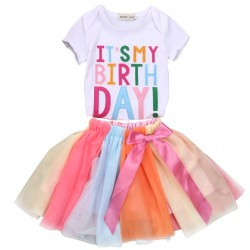 2 delige verjaardag set It's my Birthday met tutu en t-shirt in de maat 1, 2 of 3 jaar
