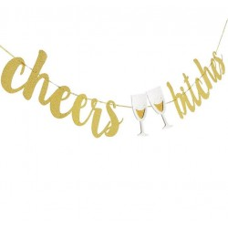 Cheers Bitches letterbanner goud