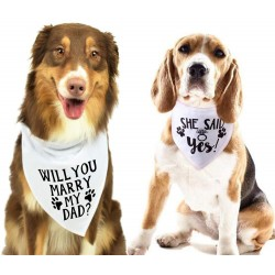 Honden bandana set Will You Marry my Dad en She Said Yes