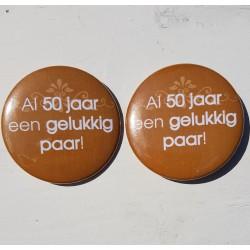 2 buttons Al 50 Jaar een Gelukkig Paar